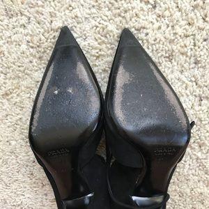 Prada Shoes - 👠Prada Suede Stiletto Lace Up Black Pumps 37 1/2